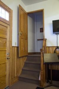 Door open over stairs