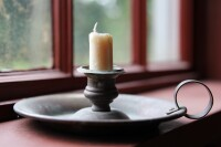 Vintage Candle and Candle Holder