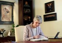 Jean B. Bingham Studying