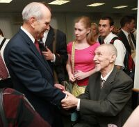 Russia: Russell M. Nelson Greeting Members