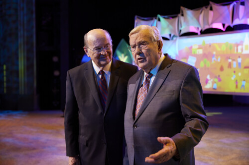 President Ballard and Elder Cook, of the Quorum of the Twelve Apostles, review President Nelson's call to gather Israel and emphasize how the Children and Youth program helps youth fulfill that assignment.