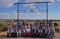Wyoming Mormon Historic Handcart Site, Sixth Crossing, Missionary Group Photo 2013