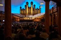 Audiences in the Salt Lake Tabernacle.