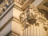 Architectural column detail at Joseph Smith Memorial Building.