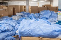 Humanitarian Center Bags of Clothes