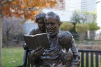 Brigham Young with Children Statue